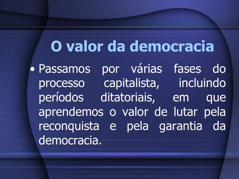 O valor da democracia