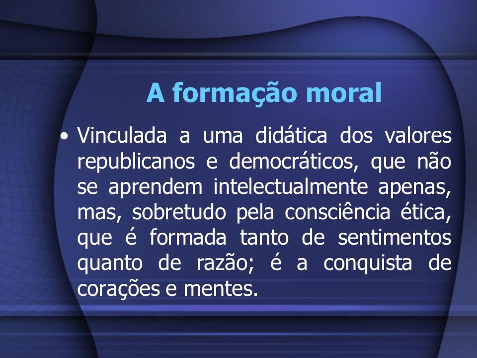 A formação moral
