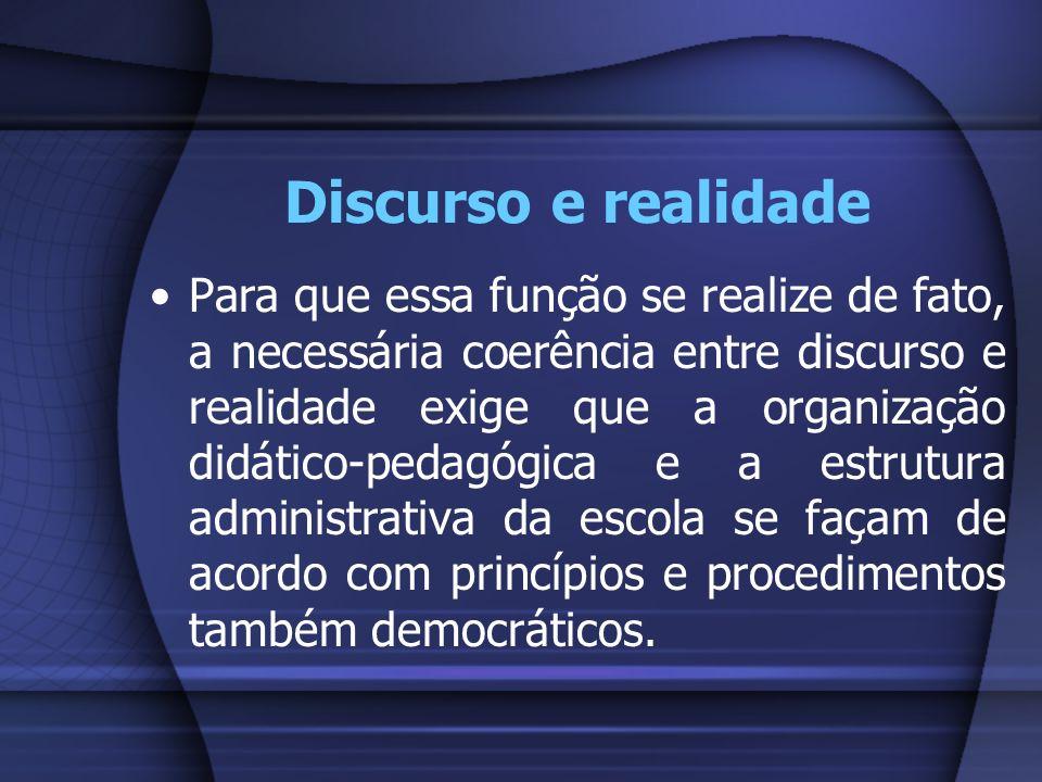 Discurso e realidade