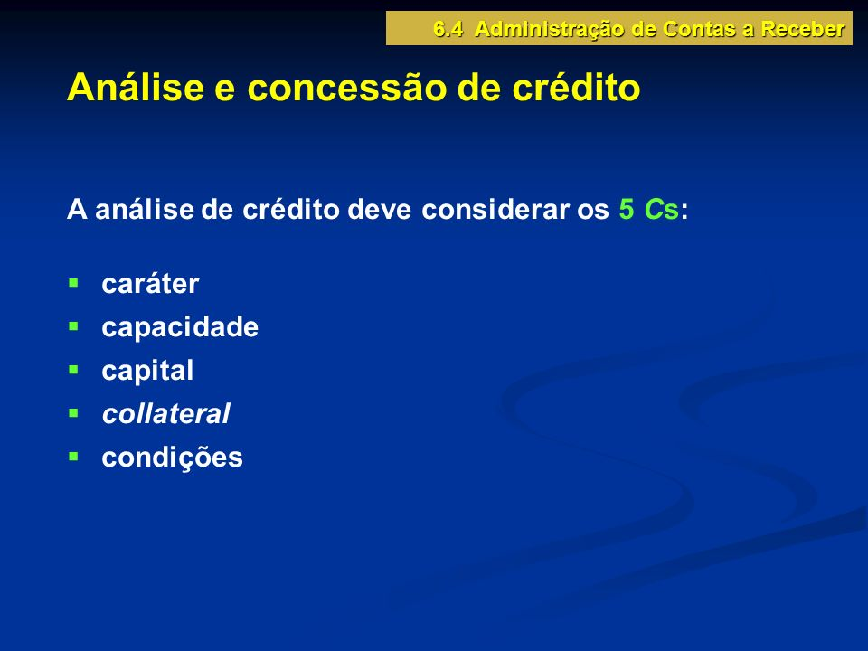 Análise e concessão de crédito