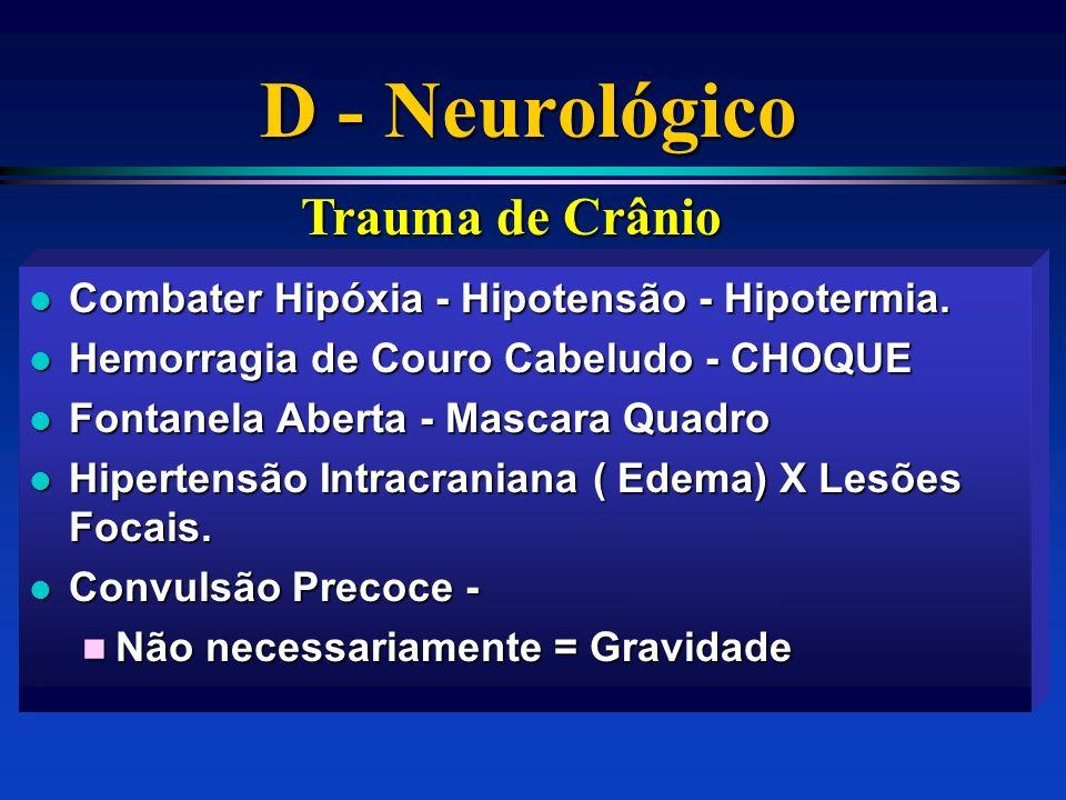 D - Neurológico Trauma de Crânio