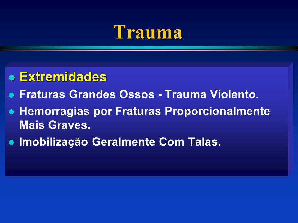 Trauma Extremidades Fraturas Grandes Ossos - Trauma Violento.