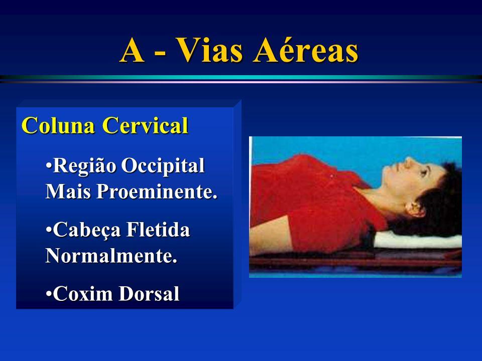A - Vias Aéreas Coluna Cervical Região Occipital Mais Proeminente.