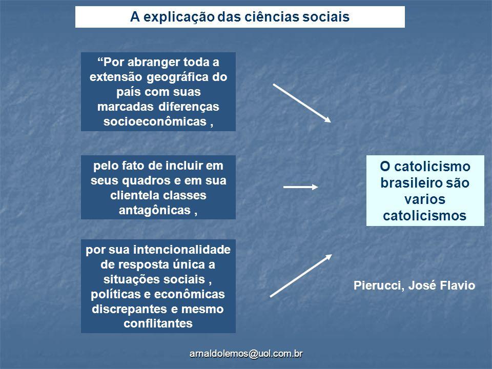 A explicação das ciências sociais