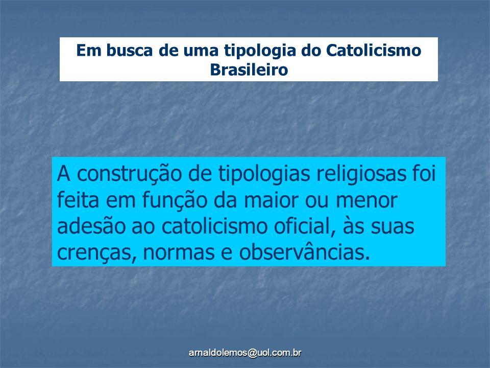 Em busca de uma tipologia do Catolicismo Brasileiro