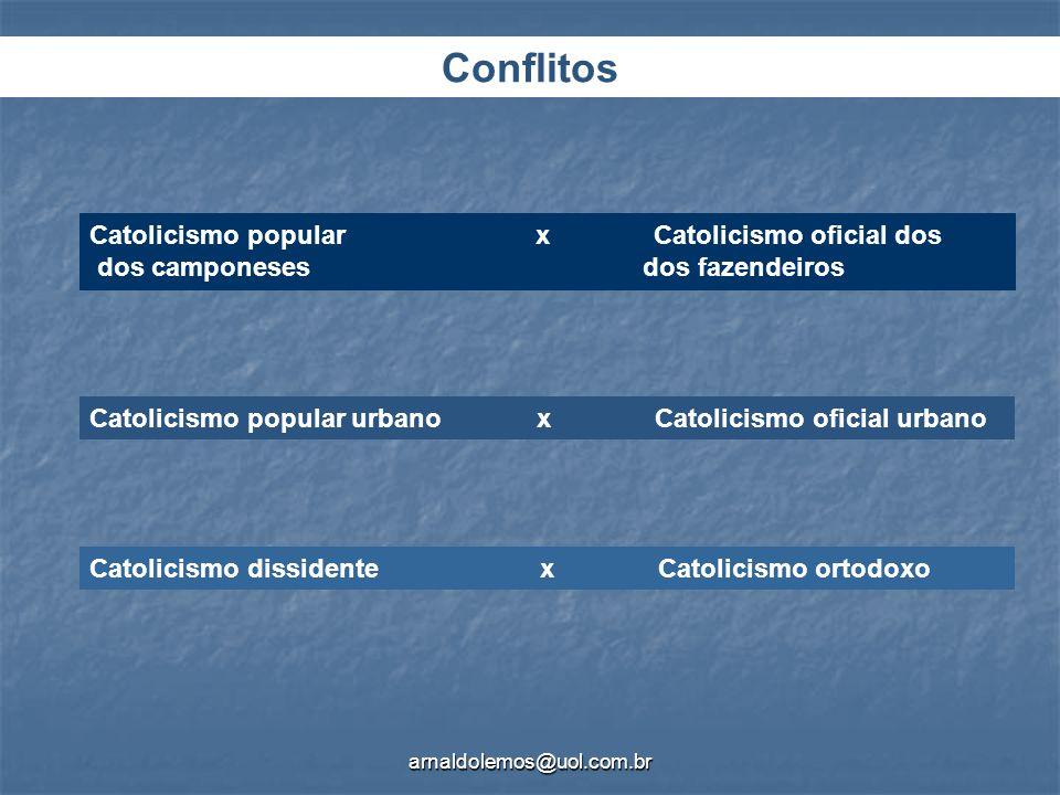 Conflitos Catolicismo popular x Catolicismo oficial dos