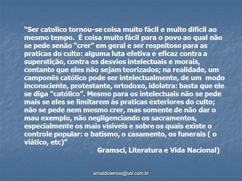 Gramsci, Literatura e Vida Nacional)