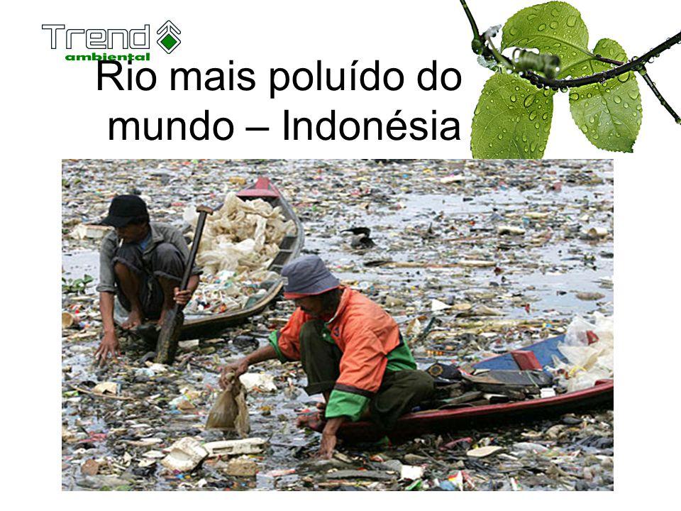 Rio mais poluído do mundo – Indonésia