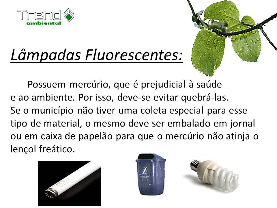 Lâmpadas Fluorescentes: