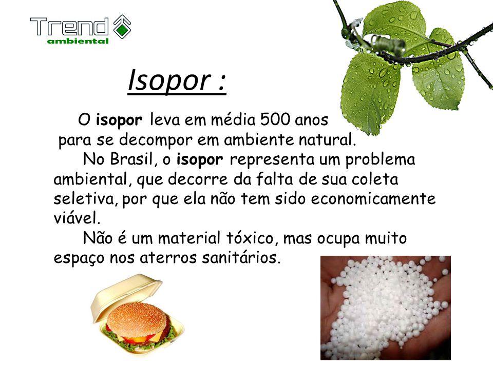 Isopor : O isopor leva em média 500 anos