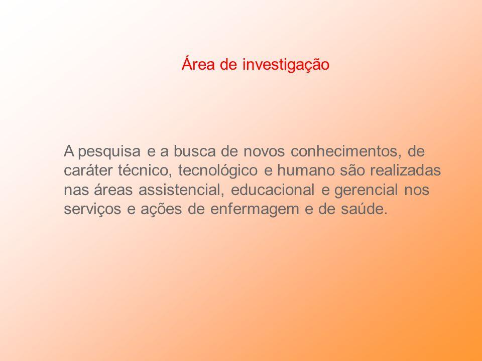 Área de investigação