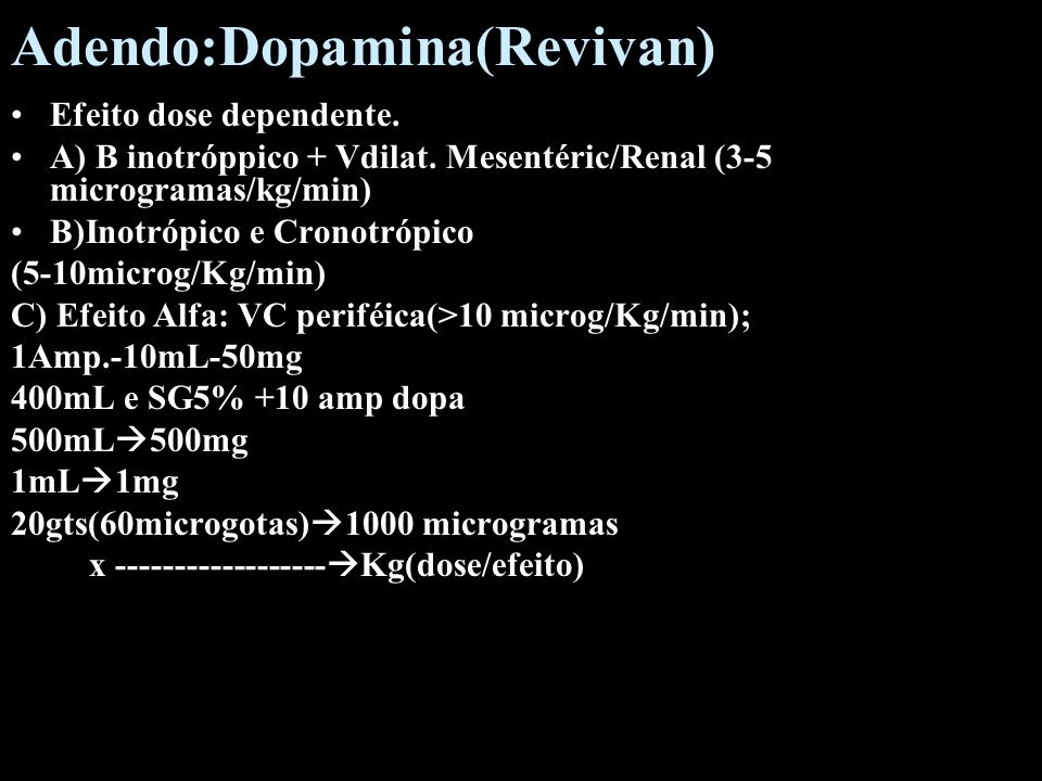 Adendo:Dopamina(Revivan)
