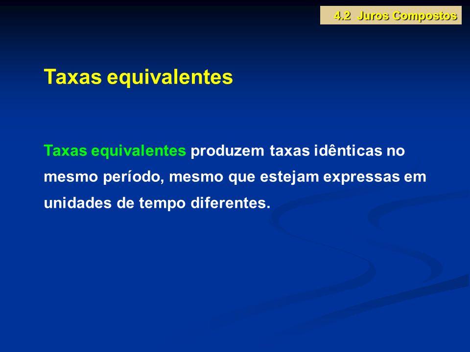 4.2 Juros Compostos Taxas equivalentes.