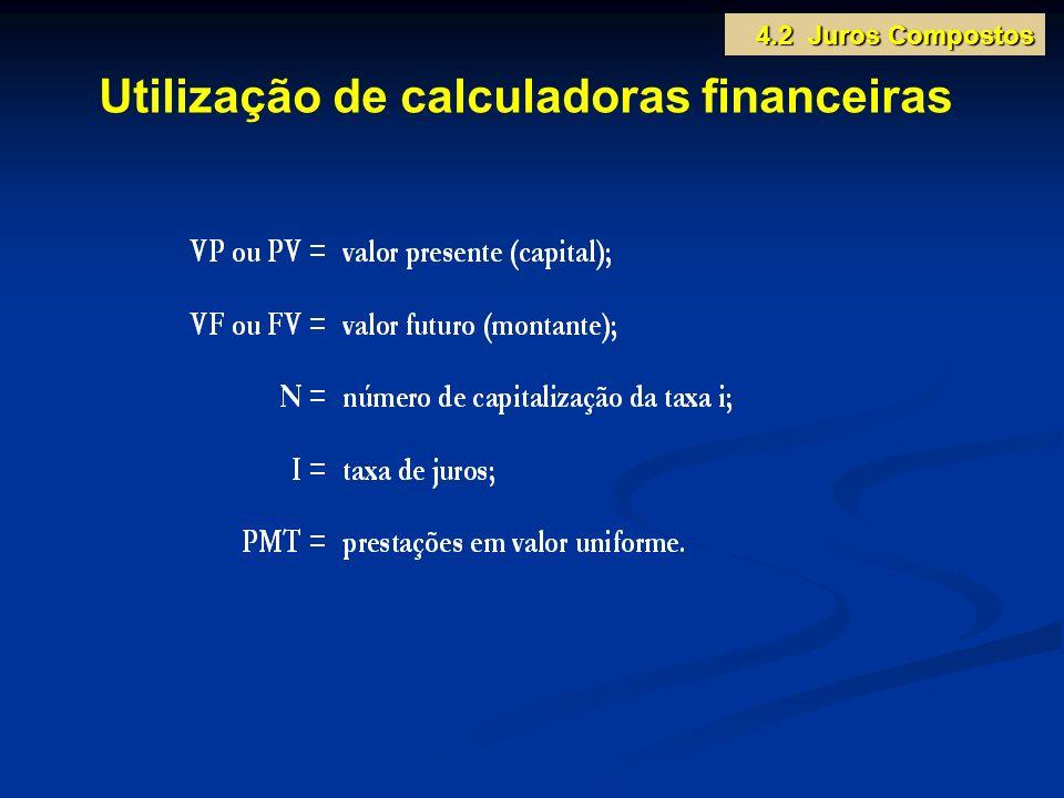 Utilização de calculadoras financeiras