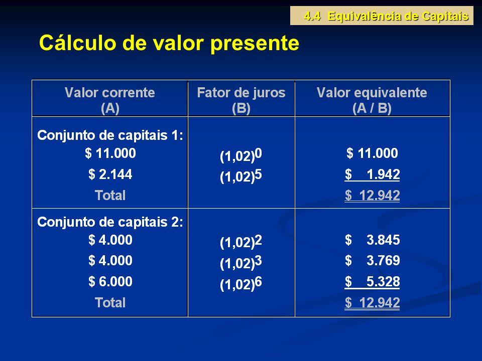 Cálculo de valor presente