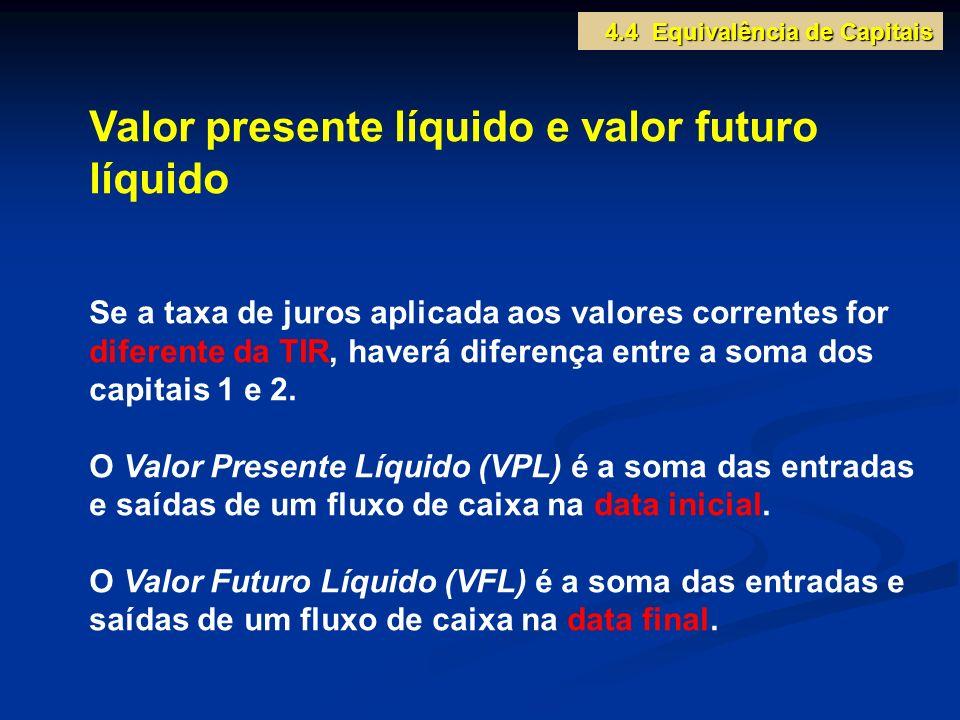 Valor presente líquido e valor futuro líquido