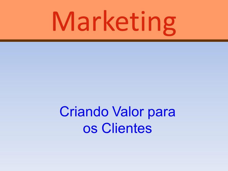 Criando Valor para os Clientes