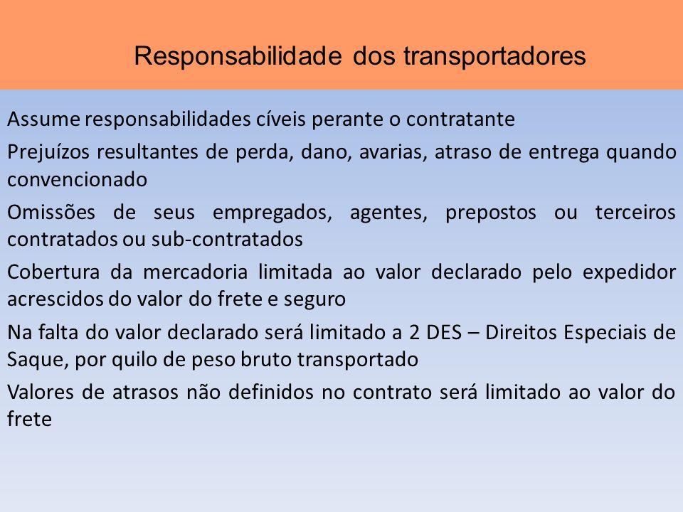 Responsabilidade dos transportadores