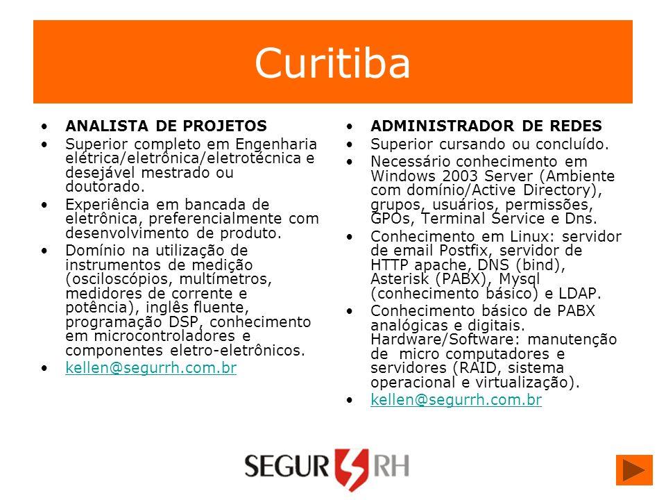 Curitiba ANALISTA DE PROJETOS