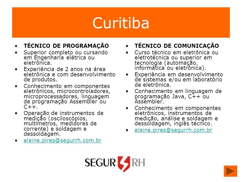 Curitiba TÉCNICO DE PROGRAMAÇÃO