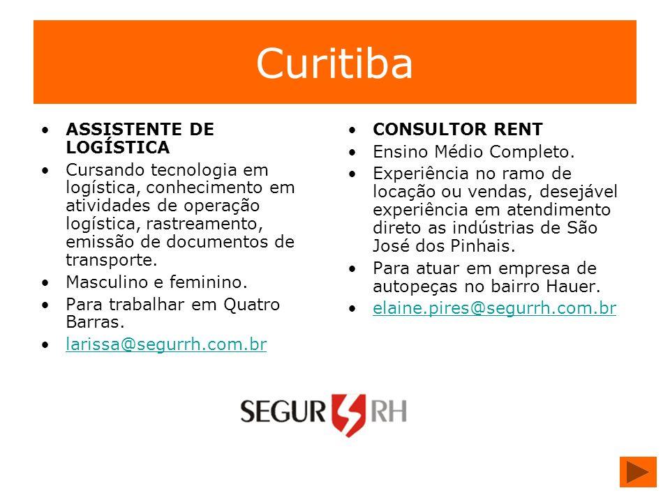Curitiba ASSISTENTE DE LOGÍSTICA