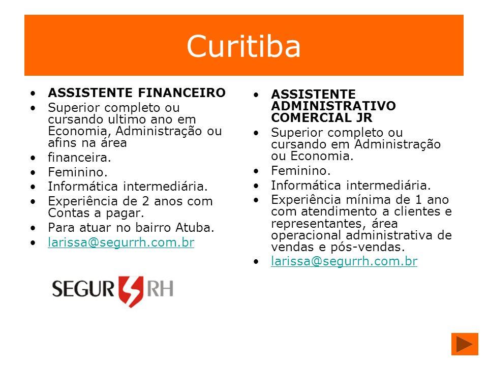 Curitiba ASSISTENTE FINANCEIRO