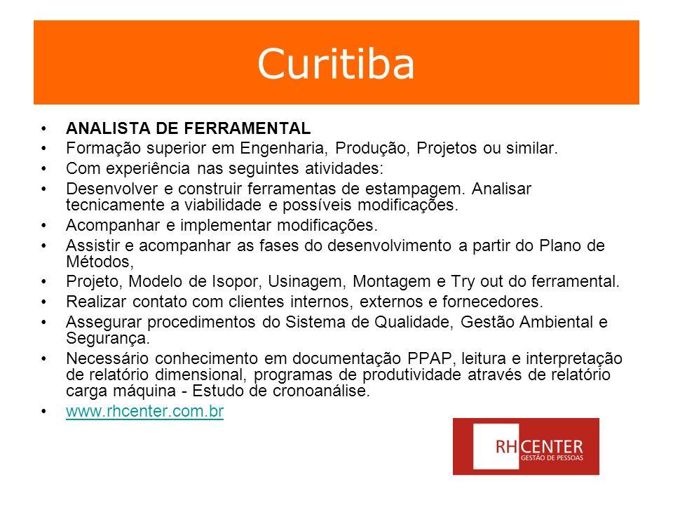 Curitiba ANALISTA DE FERRAMENTAL
