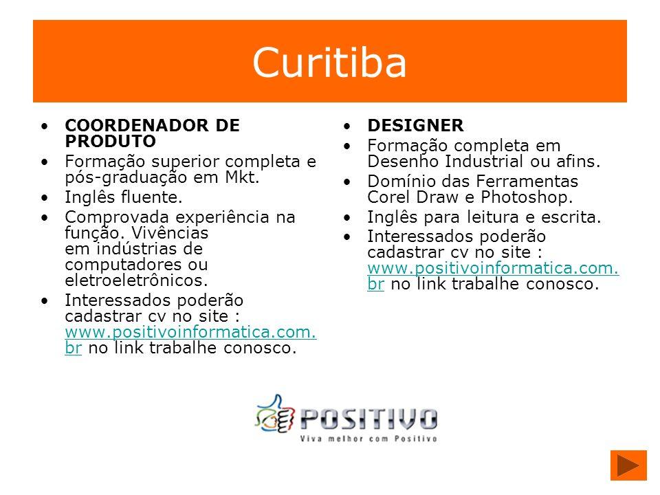 Curitiba COORDENADOR DE PRODUTO