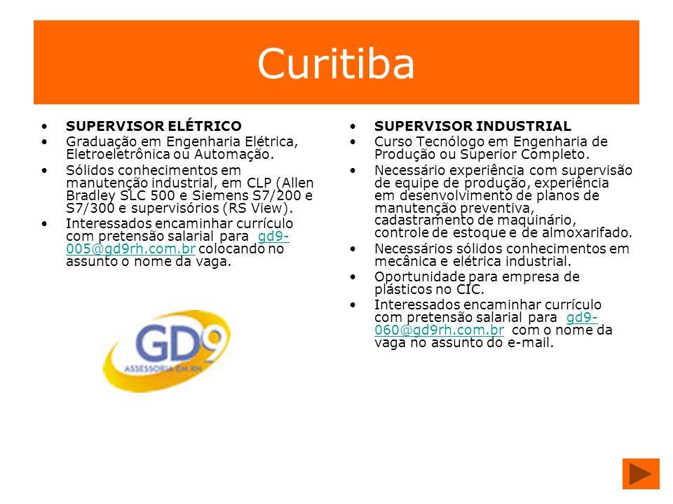 Curitiba SUPERVISOR ELÉTRICO