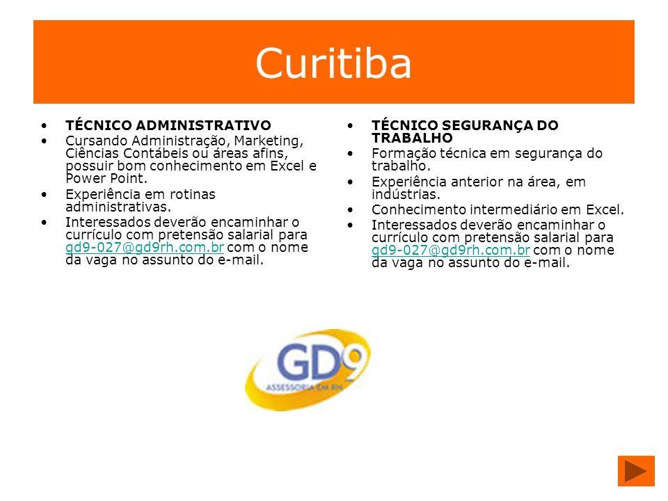 Curitiba TÉCNICO ADMINISTRATIVO