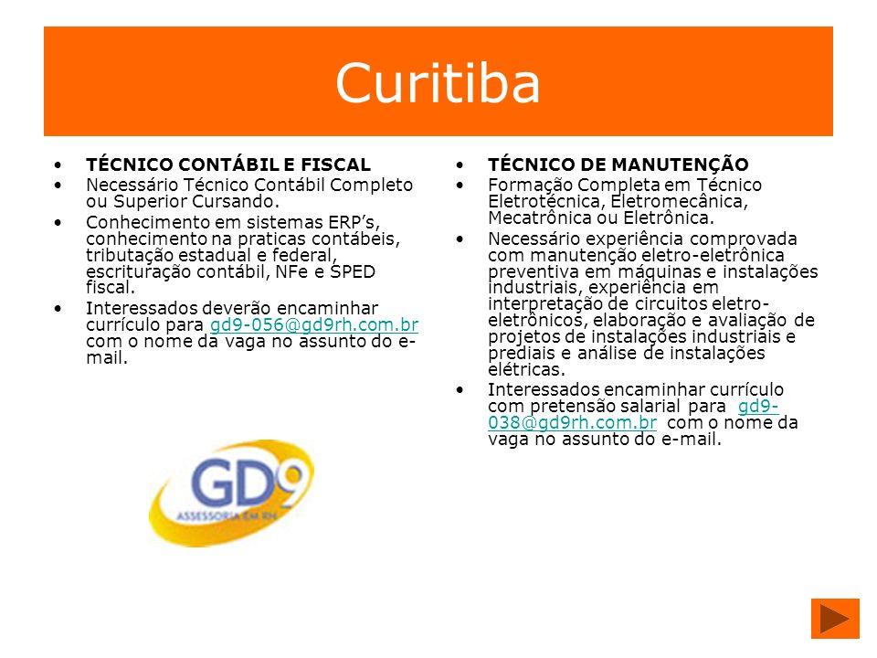 Curitiba TÉCNICO CONTÁBIL E FISCAL