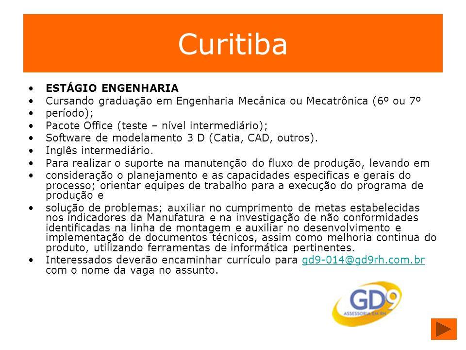 Curitiba ESTÁGIO ENGENHARIA