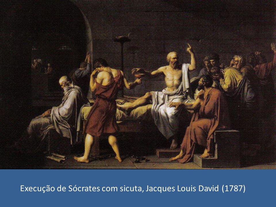 Execução de Sócrates com sicuta, Jacques Louis David (1787)