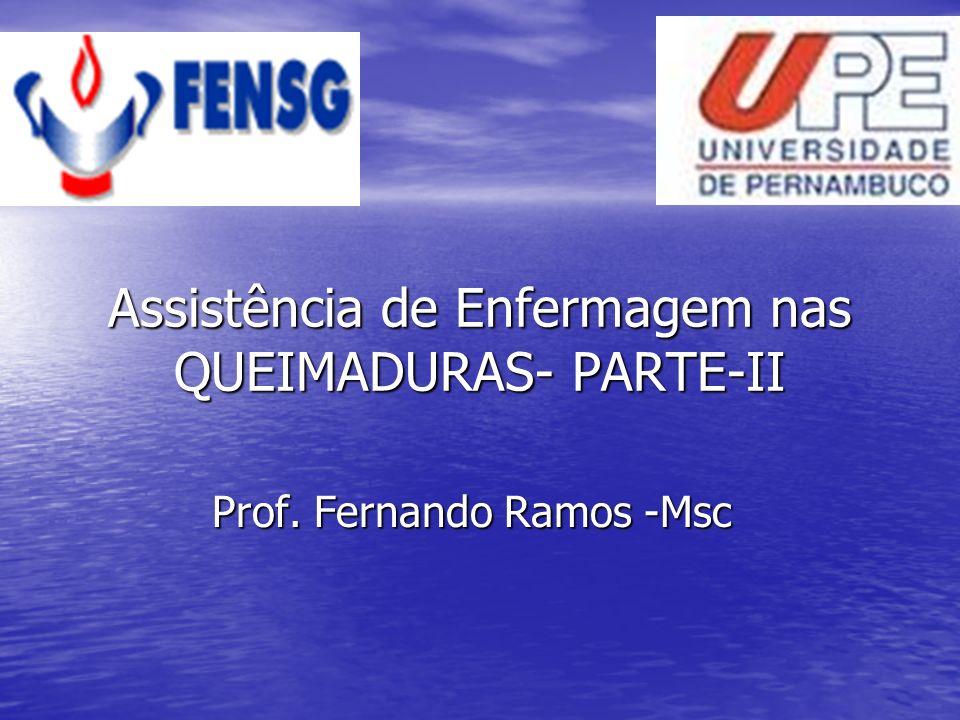 Assistência de Enfermagem nas QUEIMADURAS- PARTE-II