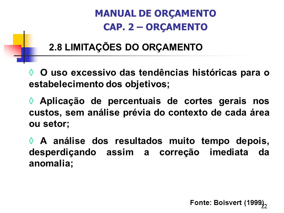 MANUAL DE ORÇAMENTO CAP. 2 – ORÇAMENTO