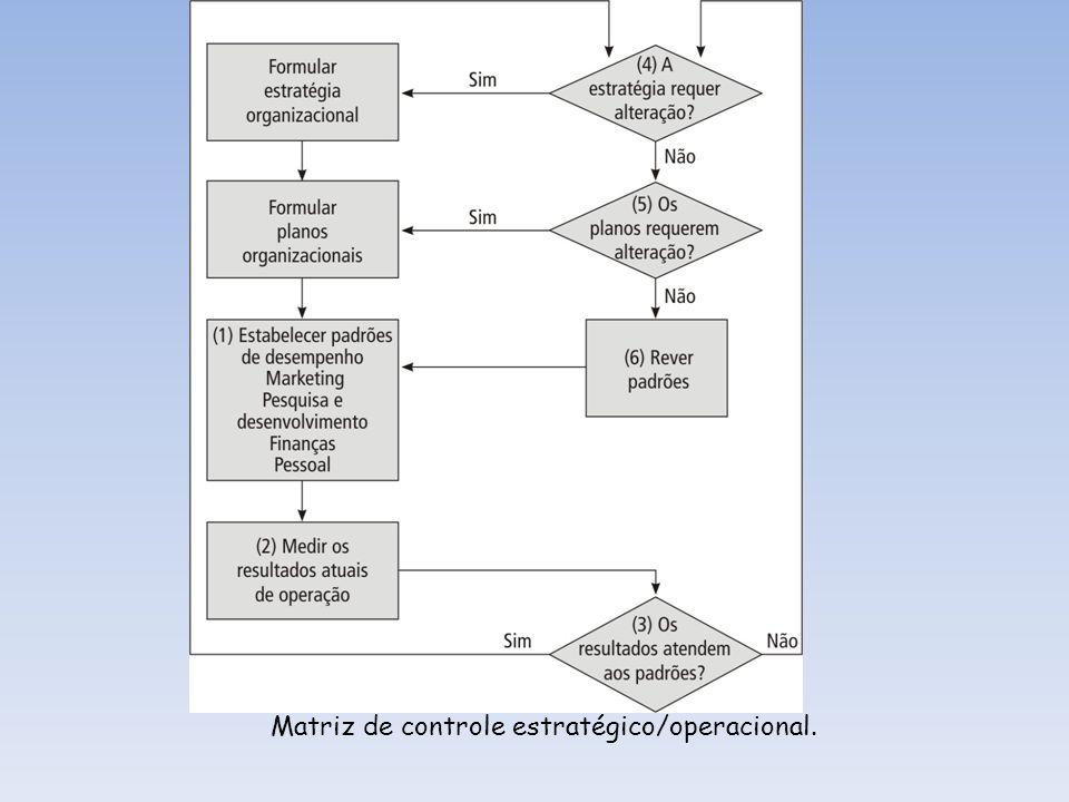 Matriz de controle estratégico/operacional.