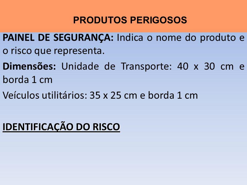 Dimensões: Unidade de Transporte: 40 x 30 cm e borda 1 cm
