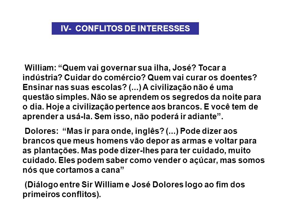 IV- CONFLITOS DE INTERESSES