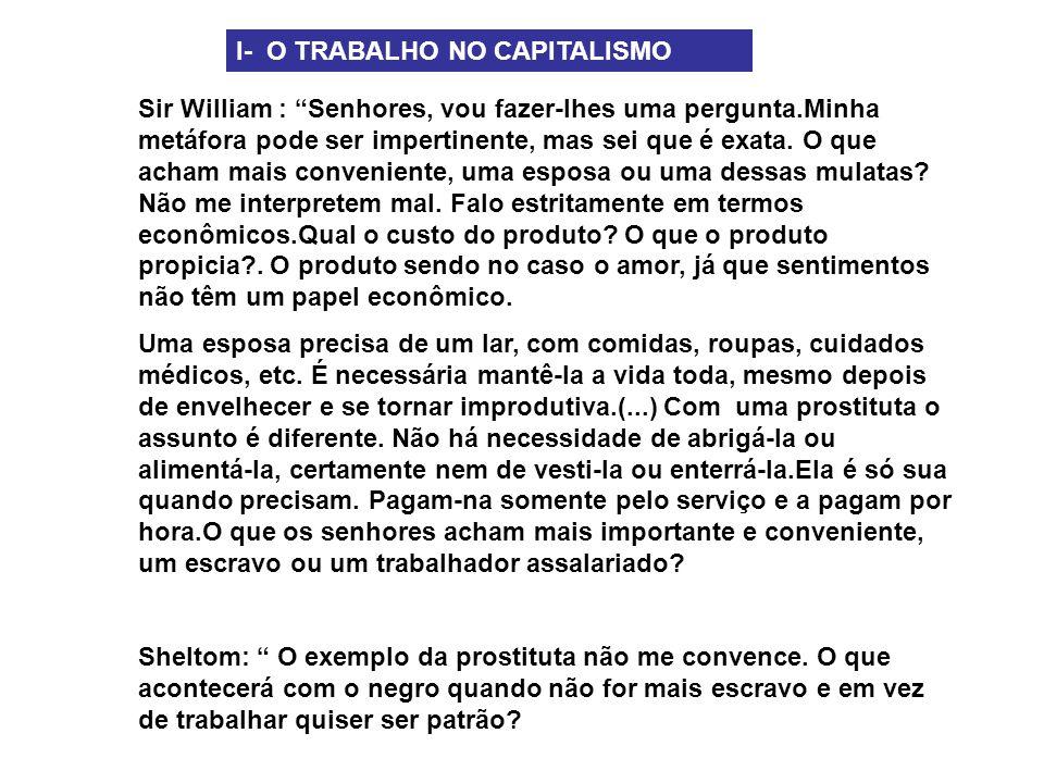 I- O TRABALHO NO CAPITALISMO