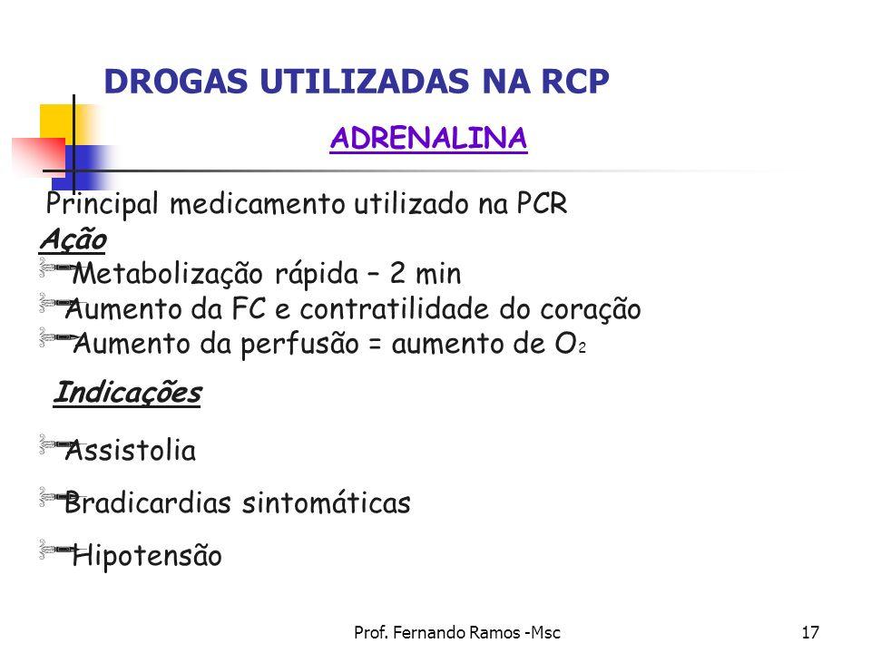 DROGAS UTILIZADAS NA RCP