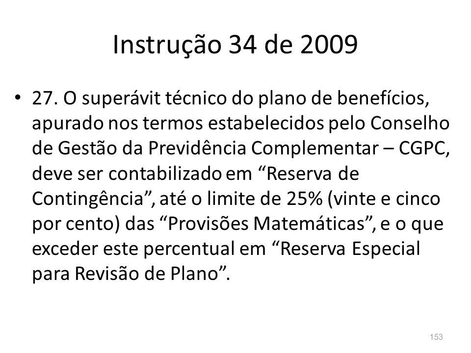 Instrução 34 de 2009