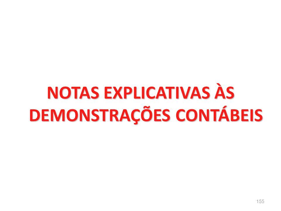 NOTAS EXPLICATIVAS ÀS DEMONSTRAÇÕES CONTÁBEIS