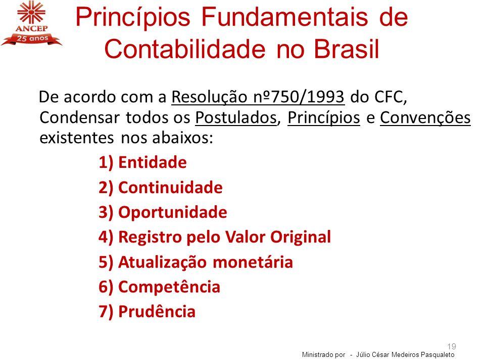 Princípios Fundamentais de Contabilidade no Brasil