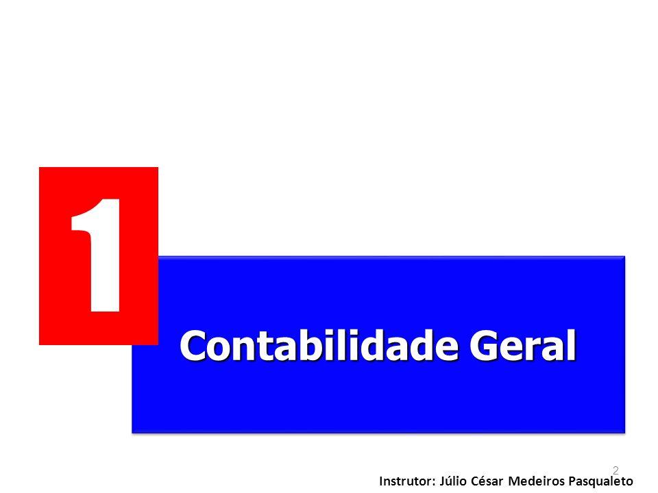1 Contabilidade Geral Instrutor: Júlio César Medeiros Pasqualeto