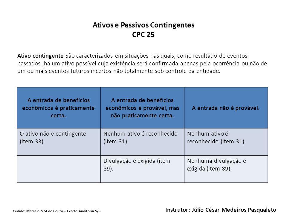 Ativos e Passivos Contingentes CPC 25