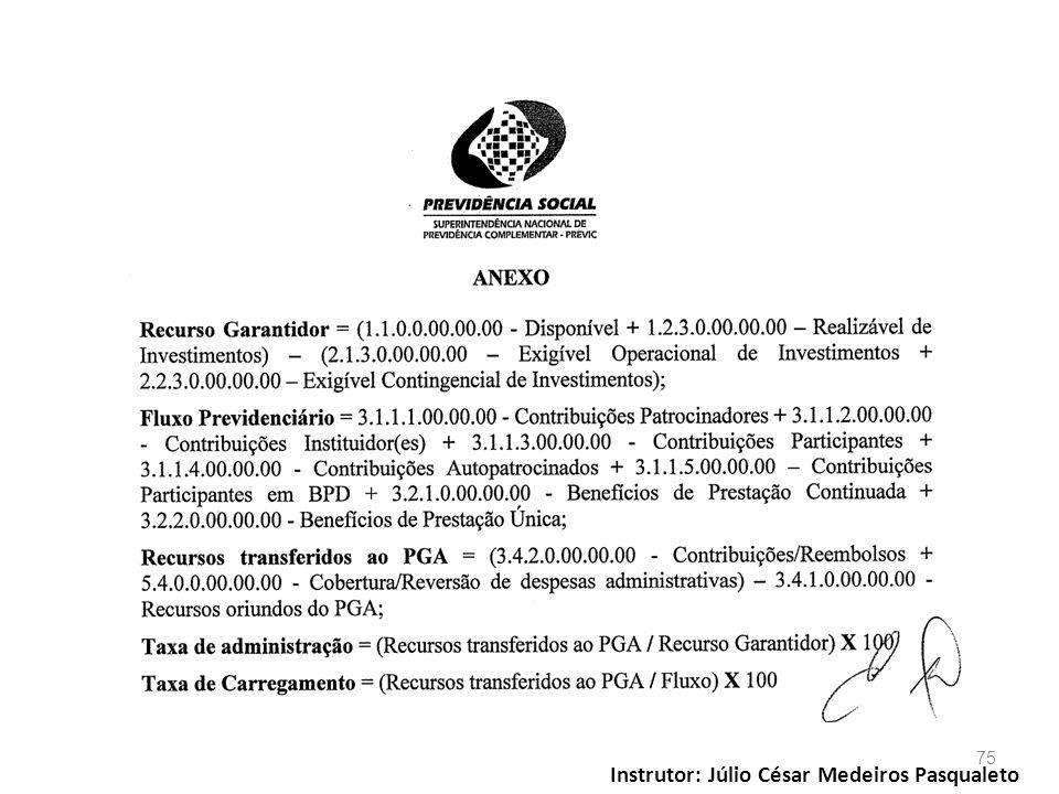 Instrutor: Júlio César Medeiros Pasqualeto