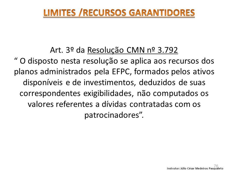 LIMITES /RECURSOS GARANTIDORES