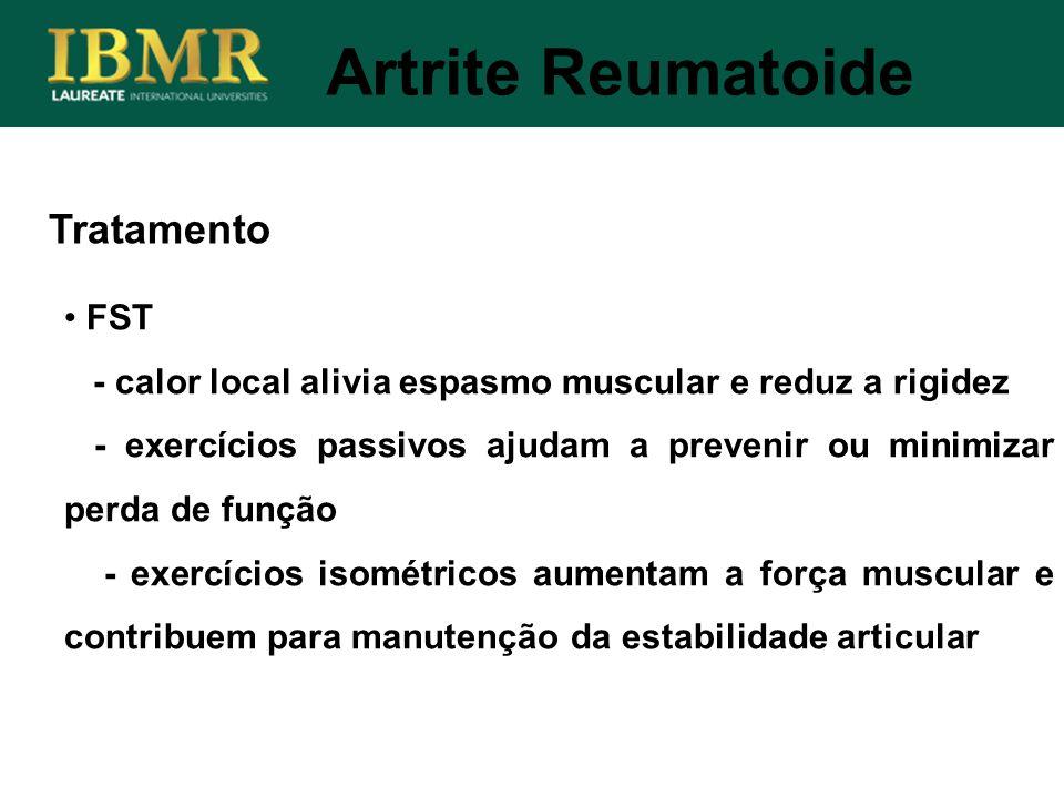 Artrite Reumatoide Tratamento FST