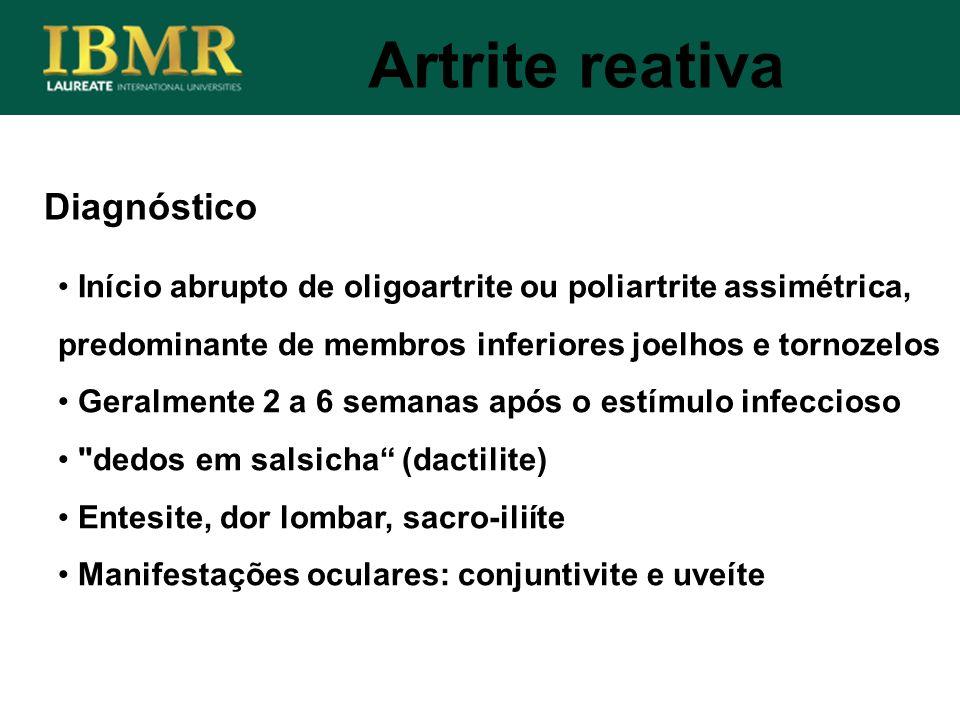 Artrite reativa Diagnóstico