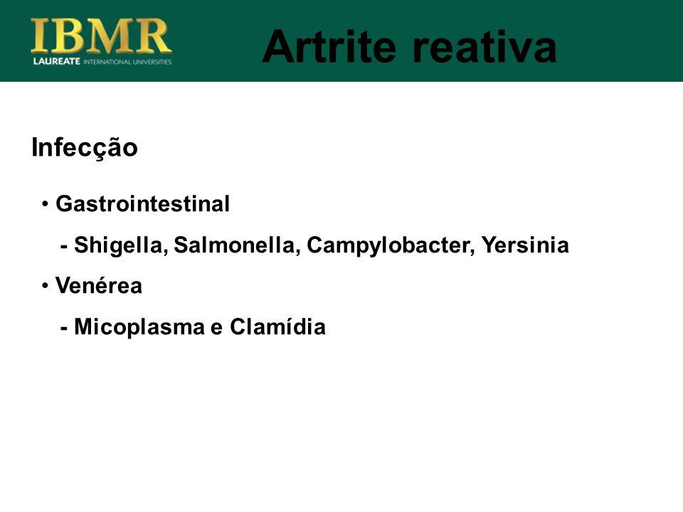 Artrite reativa Infecção Gastrointestinal